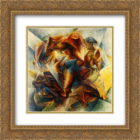 Umberto Boccioni 2x Matted 20x20 Gold Ornate Framed Art Print