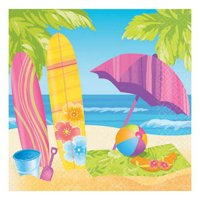 Amscan 509782 Surfs Up Beverage Napkin