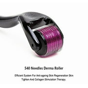 540 micro needle roller 0.5 Derma Roller Titanium micro needling roller Skin Beauty Care Facial Massage Tool Roller for Mother's Day gift, Home Use, 0.5 mm