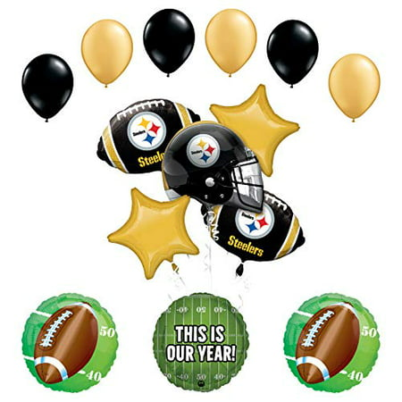 Steelers Party Supplies (Mayflower Products Steelers Football Party Supplies This is Our Year Balloon Bouquet)