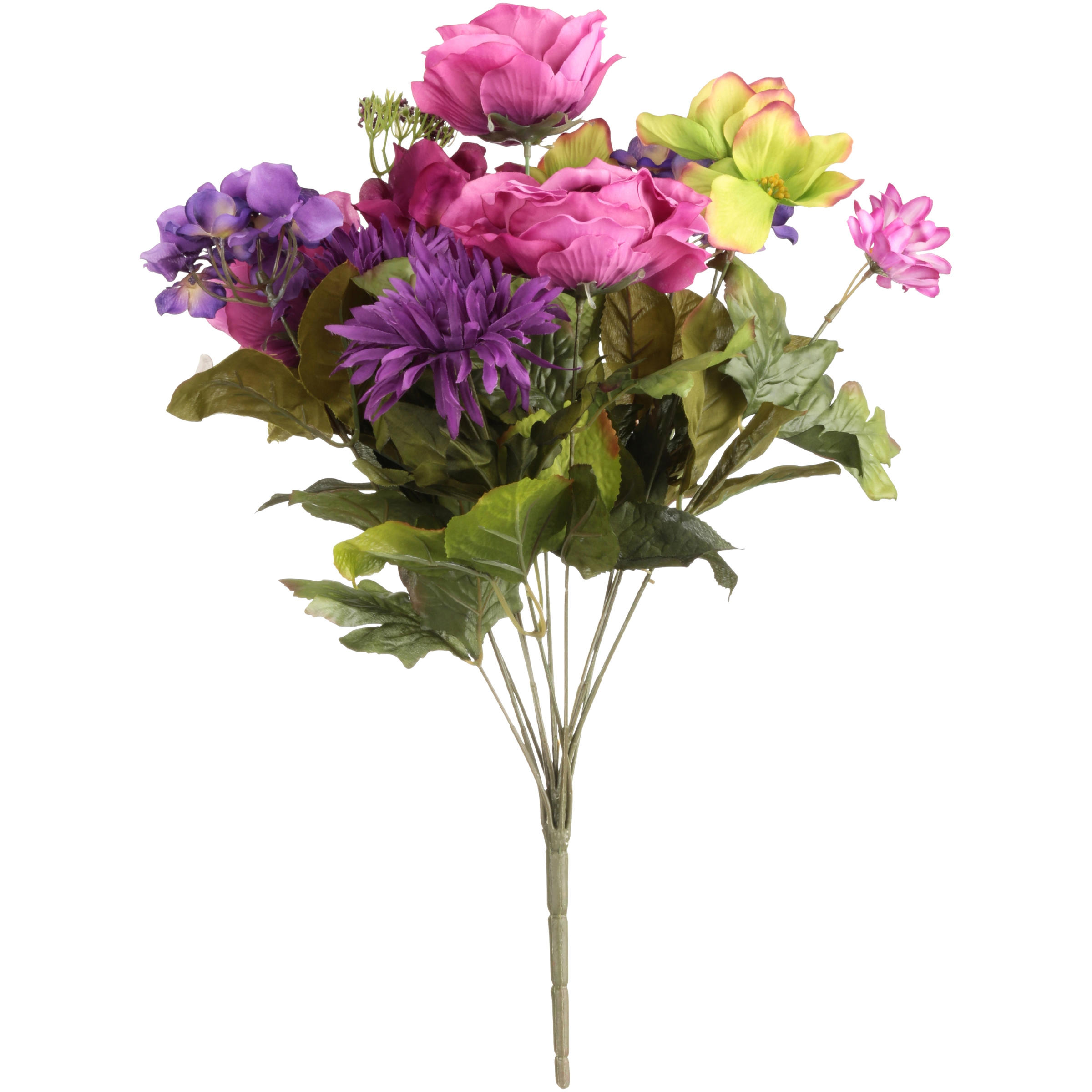 Purple Cabbage Rose Mixed Bouquet Decorative Flowers