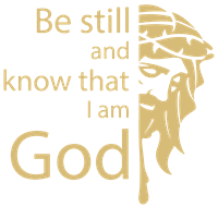 Be still and know that I am God Vinyl Decal Sticker Quote - Large - Light Brown