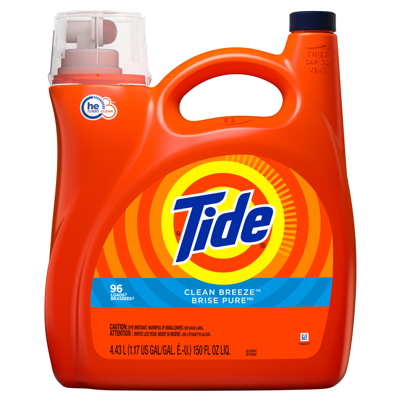 Tide He Liquid Laundry Detergent Clean Breeze 96 Loads