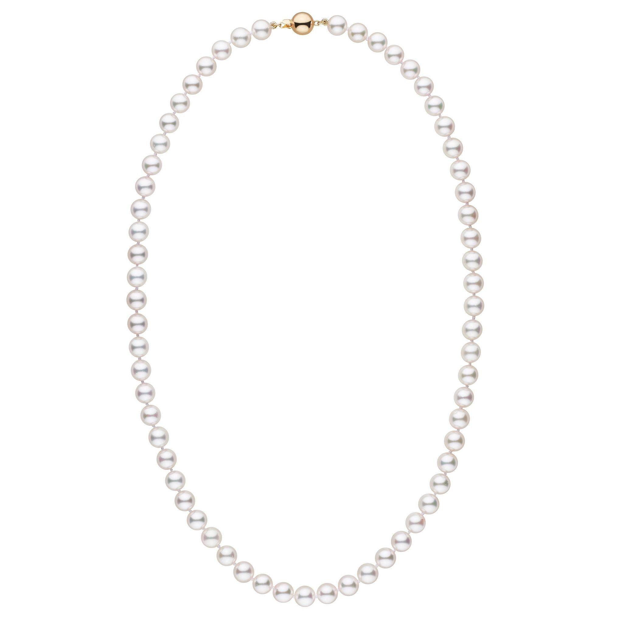 7.0-7.5 mm White Akoya 22 inch AAA Pearl Necklace by Pearl Paradise