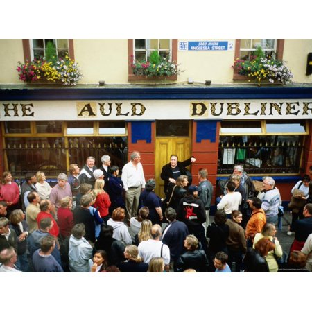Irish Music Pub Crawl, The Auld Dubliner, Temple Bar, Ireland Print Wall Art By Holger Leue - Bar Crawl Theme Ideas