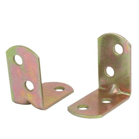 30mm x 30mm le renfort d'angle à angle droit mixte attaches crochets ton bronze 10 pcs - image 2 de 3
