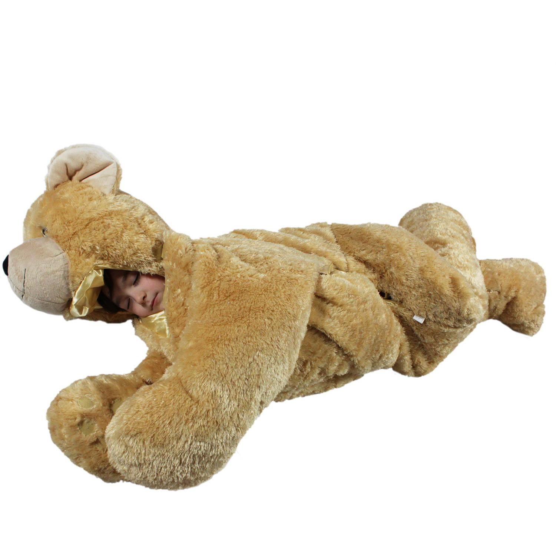 snoozzoo brown bear sleeping bag large walmart com