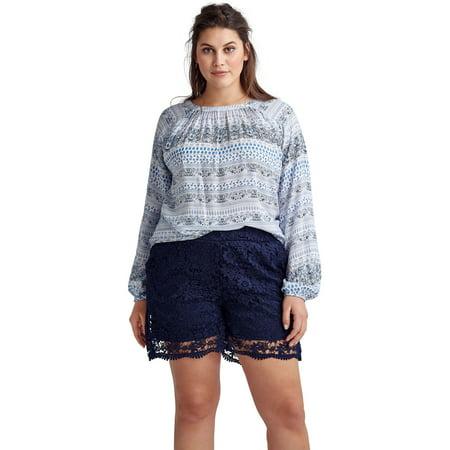 Ellos Ellos Plus Size Crochet Lace Shorts Walmartcom