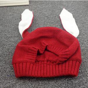 - BOBORA Toddler Winter Cap Baby Kids Rabbit Bunny Ears Hat Crochet Knitted Earflap Hat Soft Warm Cap