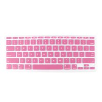 """Unique Bargains Pink Clear Silicone Laptop Keyboard Protector Film Skin for Macbook Air 11.6"""""""