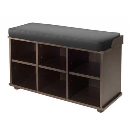 Townsend Bench with Black Cushion Seat ()