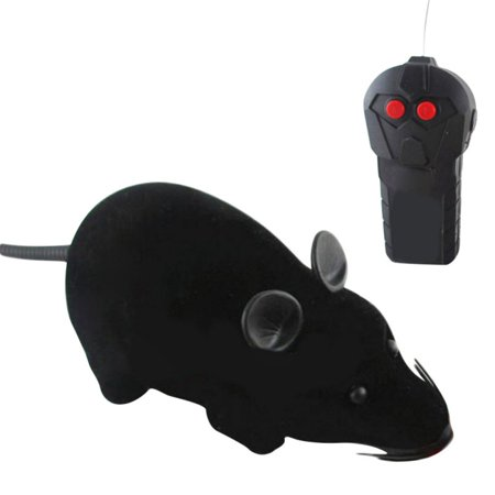 MarinaVida Rotating Mouse Toy Cat Wireless Electronic Remote Control Mouse Toy Cat Dog Pet