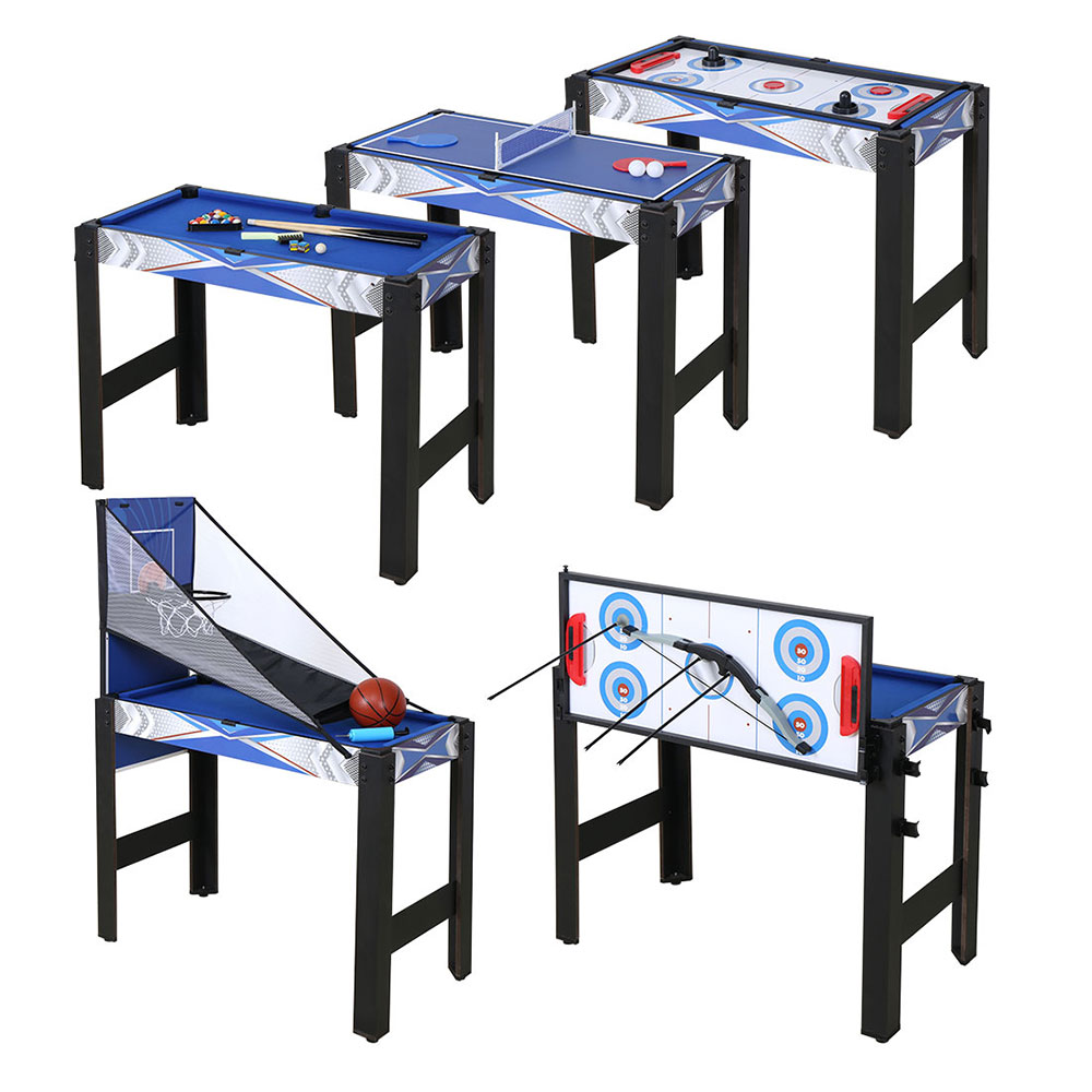 Multi Function 5 In 1 Game Table With Pool, Hockey, Table Tennis,