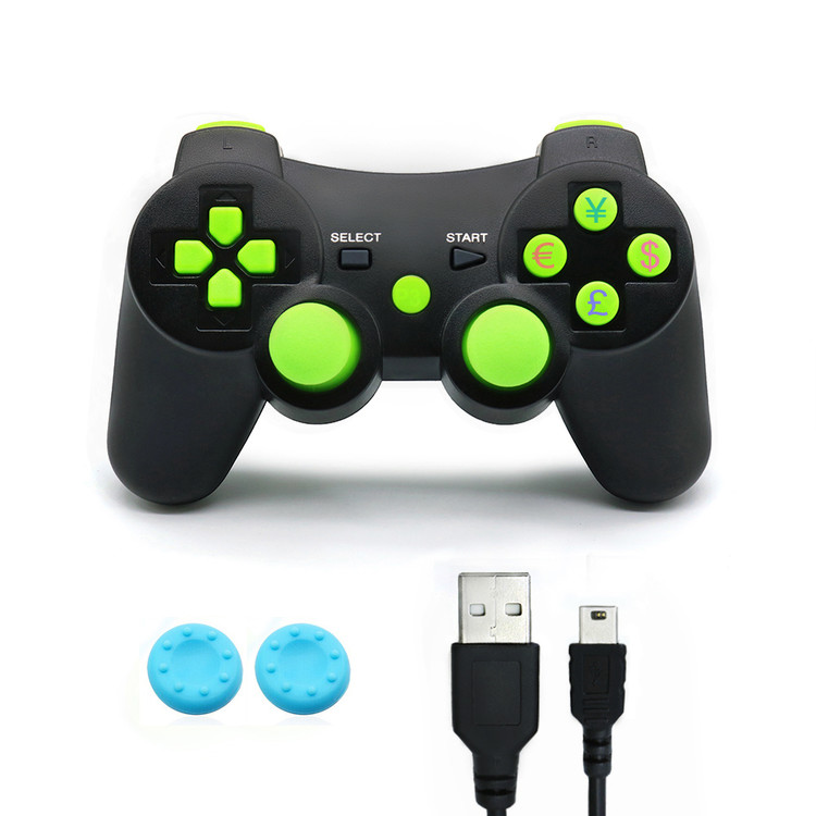 PS3 Controller Wireless Dualshock3 PS3 Best PS3 Games Remote Bluetooth Sixaxis Control Gamepad Heavy-duty Game Accessories for PlayStation3,with PS3 Charger cable(black)