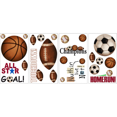 RoomMates - Peel & Stick Wall Decals, Play Ball
