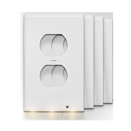 4pack Guidelights Outlet Coverplate Wall Plate With Led Night Lights