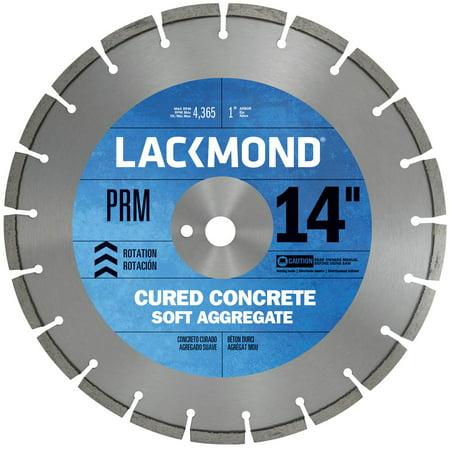14' Premium Concrete - Lackmond Premium CW20 Series Wet Cut Diamond Blade for Cured Concrete, 14-Inch by .187 by 1-Inch