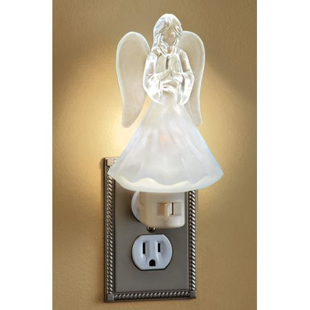 White Angel Soft Glow Night Light with Frosted Finish Detail, Home Lighting for any Room