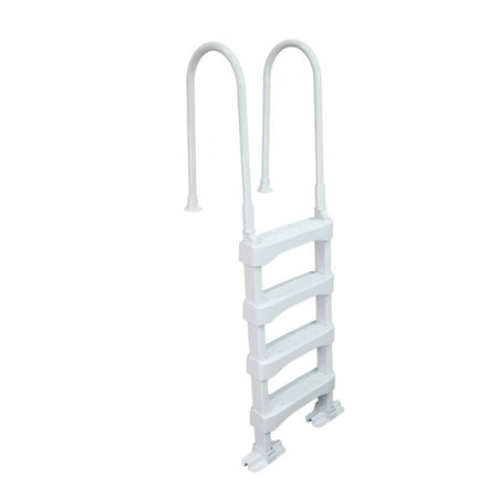 Vinyl Works SLD2 In-Pool 4 Step Ladder for 60 Inch Swimming Pool Walls, White (In Pool Ladder)