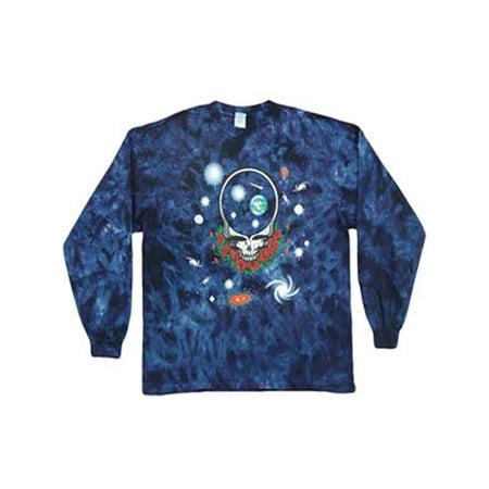 Grateful Dead Men's  Space Your Face Tie Dye  Long Sleeve Multi](Grateful Dead Space Your Face Shirt)