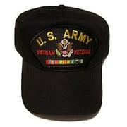 US ARMY VIETNAM VETERAN HAT CAP W/ CAMPAGIN RIBBONS SOUTH EAST ASIA