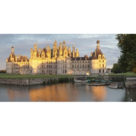 Castle at the waterfront Chateau Royal de Chambord Chambord Loire-Et-Cher Loire Valley Loire River Centre Region France Canvas Art - Panoramic Images (24 x (Valley River Center)