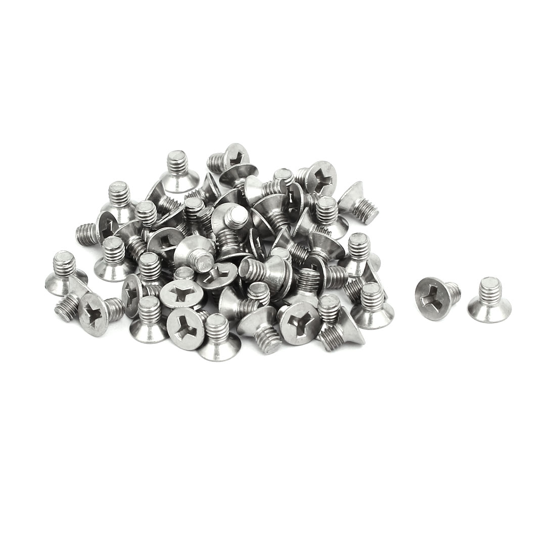 Unique Bargains M4x6mm 304 Stainless Steel Y Type Flat Head Tamper Proof Security Screws 60pcs - image 1 of 3