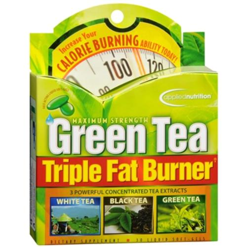 Applied Nutrition Green Tea Triple Fat Burner Liquid Soft-Gels 30 Soft Gels (Pack of 3)