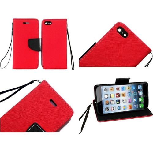 "Insten For iPhone 6S / 6 4.7"" Wallet Flip PU Leather Pouch Case Cover Colors Red"