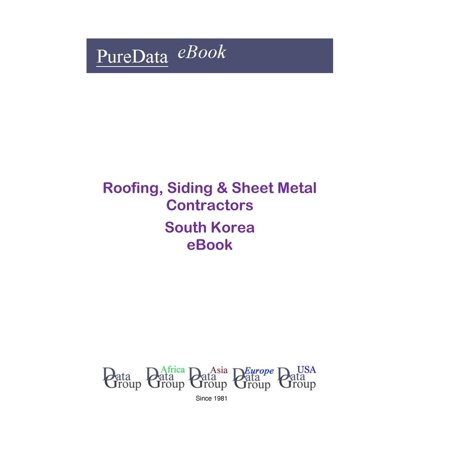 Roofing, Siding & Sheet Metal Contractors in South Korea - eBook (Metal Roofing Books)