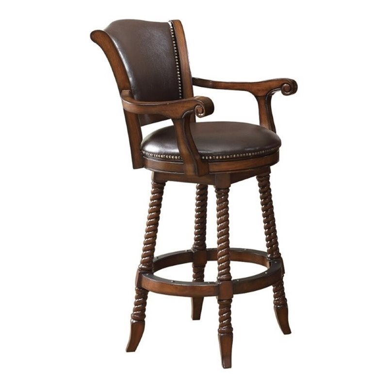 Excellent Bowery Hill 29 Traditional Bar Stool In Cherry Squirreltailoven Fun Painted Chair Ideas Images Squirreltailovenorg