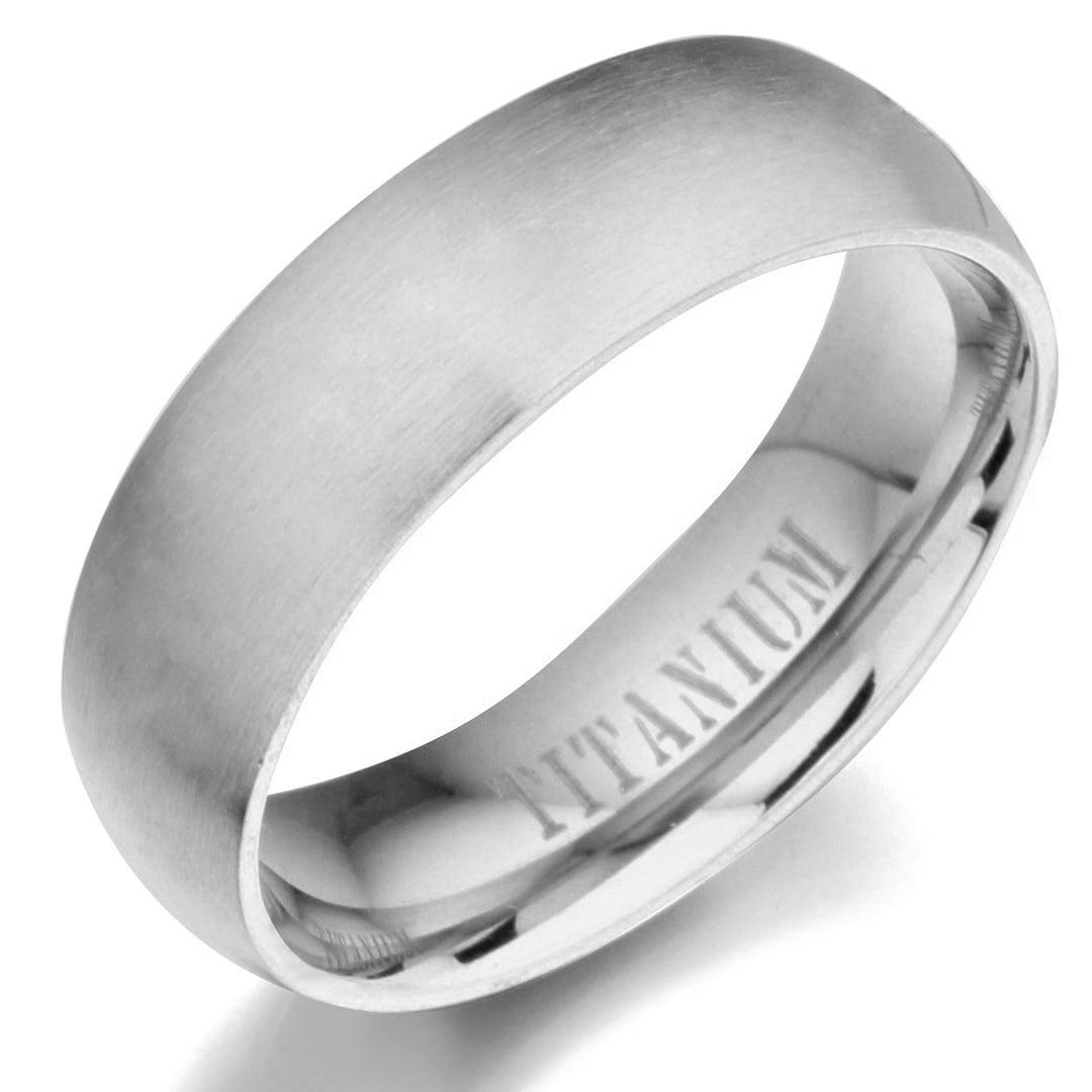 Gemini Plain Flat Court Black Titanium Anniversary Wedding Ring Width 4mm US Size 10