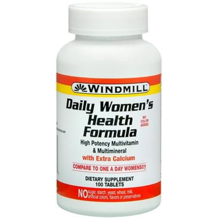 Windmill Formule Daily la santé des femmes multivitamines comprimés 100 comprimés (pack de 2)