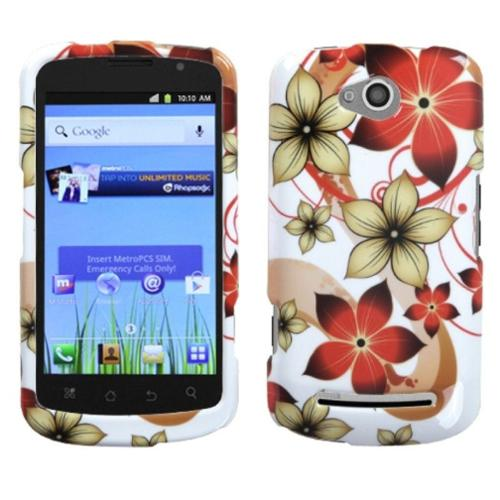 Insten Hibiscus Flower Romance Phone Case for COOLPAD: 5860E (Quattro 4G)