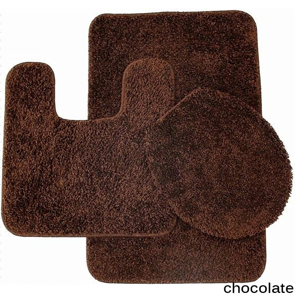 3 Piece Bathroom Rug And Toilet Seat