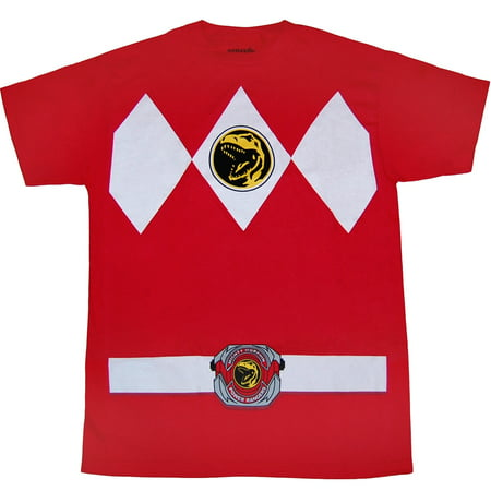 Mighty Morphin Power Rangers Red Ranger Costume T-Shirt](Army Ranger Shirt)