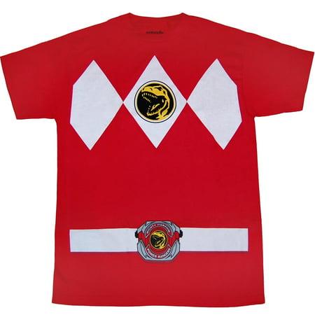Mighty Morphin Power Rangers Red Ranger Costume (Mighty Mac Shirt)