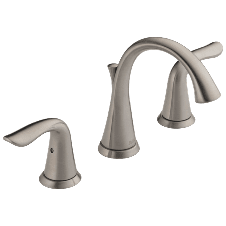 Delta Lahara Two Handle 8 in. Widespread Lavatory Faucet in Stainless 3538-SSMPU-DST