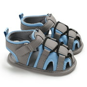 Baby Infant Boys Magic Sticker Non-slip Soft Sole Sandals