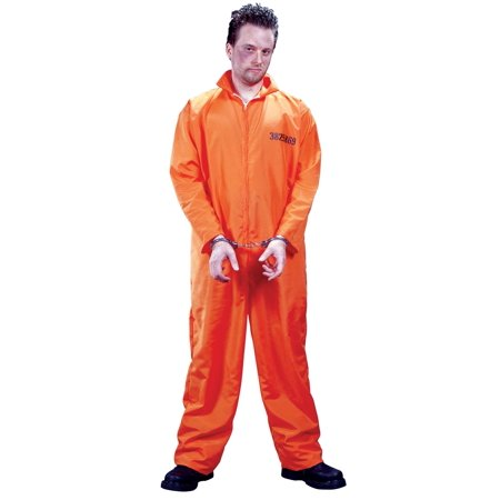 Got Busted Orange Jumpsuit Adult Halloween Costume - One Size