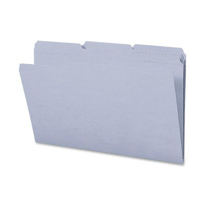 Smead 17334 Gray Colored File Folders with Reinforced Tab SMD17334
