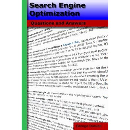 Search Engine Optimization  Questions And Answers