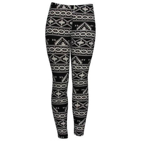 Womens Tribal Pyramids Fashion Sheer Leggings (One Size) - image 2 de 2