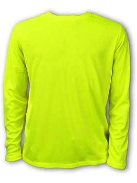 Ingear Boys' Swim Shirt UPF Boys sun shirts Boys' Long Sleeve Rash Guard (Neon Yellow, Large)