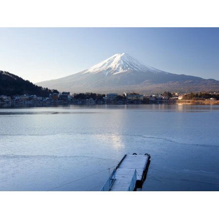 Lake Kawaguchi, Mount Fuji, Japan Print Wall Art By Peter Adams