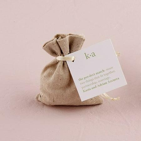 Small Plain Linen Drawstring Bags