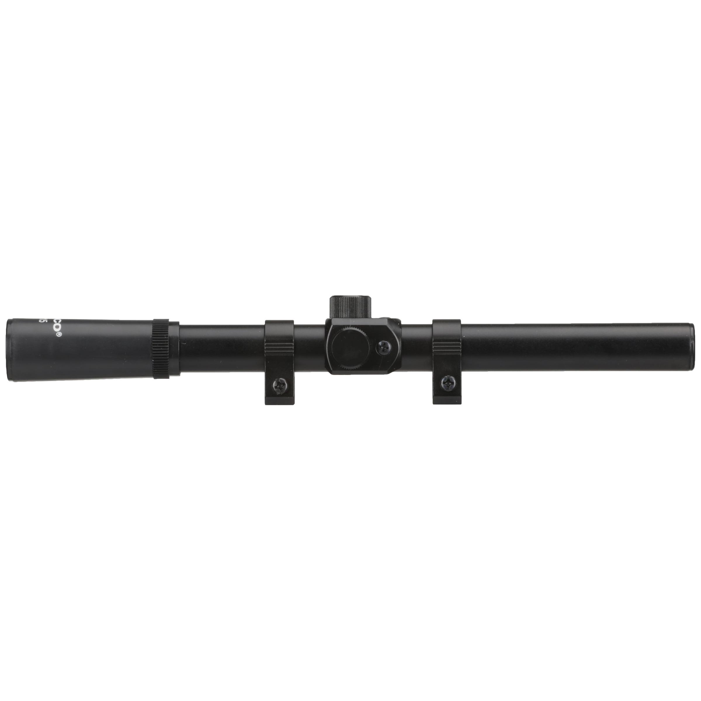 Tasco RF4X15 Rifle Scope with Rings /& Lens Caps