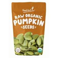 Organic Pepitas / Pumpkin Seeds, 2 Pounds  No Shell, Non-GMO, Kosher, Raw, Vegan  by Food to Live