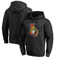 Ottawa Senators Fanatics Branded Primary Logo Pullover Hoodie - Black