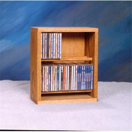 Wood Shed 206-12 Solid Oak Dowel Cabinet for CDs